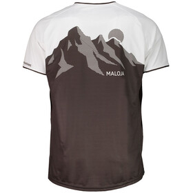 Maloja KarkopfM.Multi Koszulka kolarska, krótki rękaw Mężczyźni szary/biały
